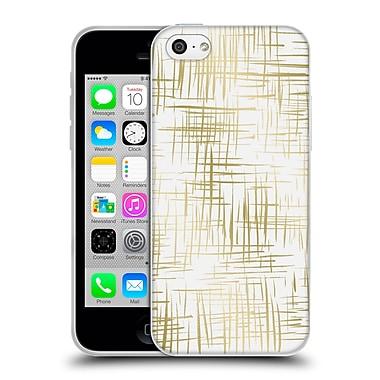 Official Caitlin Workman Patterns Cross Hatch Gold Soft Gel Case for Apple iPhone 5c
