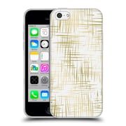 Official Caitlin Workman Patterns Cross Hatch Gold Soft Gel Case for Apple iPhone 5c