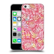 Official Celandine Tropical Pattern Stand Out Pink Pastel Soft Gel Case for Apple iPhone 5c