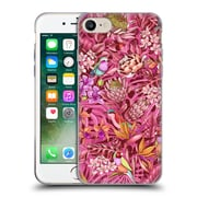 Official Celandine Tropical Pattern Stand Out Calmer Red Soft Gel Case for Apple iPhone 7