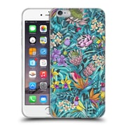 Official Celandine Tropical Pattern Stand Out Teal Soft Gel Case for Apple iPhone 6 Plus / 6s Plus
