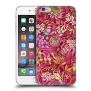Official Celandine Tropical Pattern Stand Out Red Soft Gel Case for Apple iPhone 6 Plus / 6s Plus