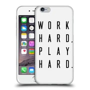 Official Caitlin Workman Typography Work Hard Play Hard Soft Gel Case for Apple iPhone 6 / 6s