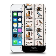 Official British Museum Ancient Egypt Off White Hieroglyphics Soft Gel Case for Apple iPhone 5 / 5s / SE