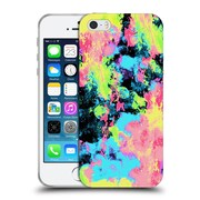 Official Caleb Troy Vivid Blacklight Neon Swirl Soft Gel Case for Apple iPhone 5 / 5s / SE