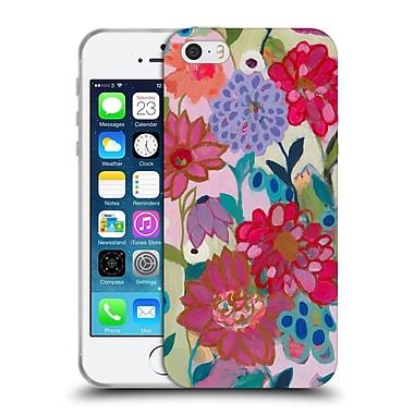 Official Carrie Schmitt Florals Adventures On The Garden Patch Soft Gel Case for Apple iPhone 5 / 5s / SE