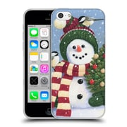 Official Christmas Mix Snowman William Vanderdasson Holding Soft Gel Case for Apple iPhone 5c