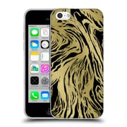 Official Caitlin Workman Patterns Marble Gold Black Soft Gel Case for Apple iPhone 5c