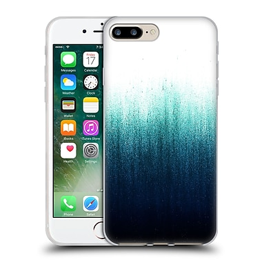 Official Caitlin Workman Patterns Teal Ombre Soft Gel Case for Apple iPhone 7 Plus