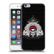 Official Chobopop Illustrations Indian Skull Soft Gel Case for Apple iPhone 6 Plus / 6s Plus