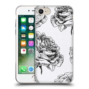 Official Caitlin Workman Black and White Roses Soft Gel Case for Apple iPhone 7