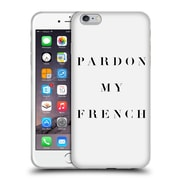 Official Caitlin Workman Typography Pardon My French Soft Gel Case for Apple iPhone 6 Plus / 6s Plus