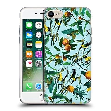 Official Burcu Korkmazyurek Tropical Fruit And Birds Soft Gel Case for Apple iPhone 7