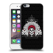 Official Chobopop Illustrations Indian Skull Soft Gel Case for Apple iPhone 6 / 6s