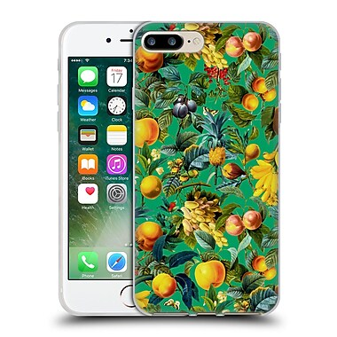 Official Burcu Korkmazyurek Tropical Fruit Pattern Soft Gel Case for Apple iPhone 7 Plus