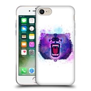Official Chobopop Animals Lilac Geometric Bear Soft Gel Case for Apple iPhone 7