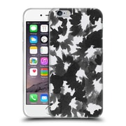 Official Caitlin Workman Black and White Watercolour Floral Soft Gel Case for Apple iPhone 6 / 6s