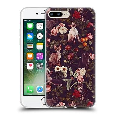 Official Burcu Korkmazyurek Animals Cat And Floral Soft Gel Case for Apple iPhone 7 Plus