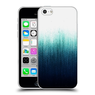 Official Caitlin Workman Patterns Teal Ombre Soft Gel Case for Apple iPhone 5c