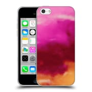 Official Caleb Troy Vivid Ruby Watercolour Soft Gel Case for Apple iPhone 5c