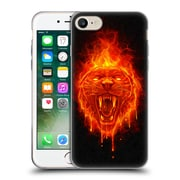 Official Christos Karapanos Horror Flaming Cat Soft Gel Case for Apple iPhone 7