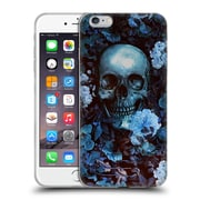 Official Burcu Korkmazyurek Skulls Flowers Soft Gel Case for Apple iPhone 6 Plus / 6s Plus
