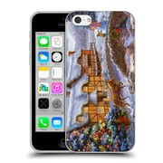 Official Christmas Mix Winter Wonderland Nicky Boehme Country Cottages Soft Gel Case for Apple iPhone 5c