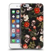 Official Burcu Korkmazyurek Skulls Floral Soft Gel Case for Apple iPhone 6 Plus / 6s Plus