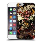Official Burcu Korkmazyurek Skulls Floral II Soft Gel Case for Apple iPhone 6 Plus / 6s Plus