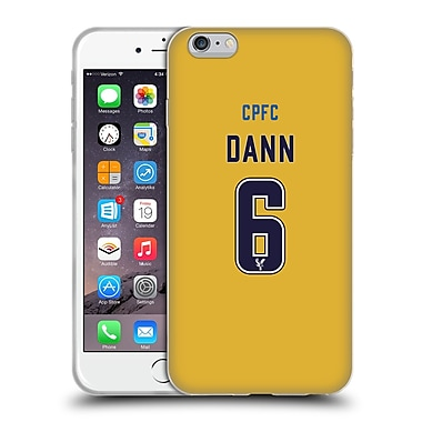 Official Crystal Palace FC 2016/17 Players Away Kit Scott Dann Soft Gel Case for Apple iPhone 6 Plus / 6s Plus