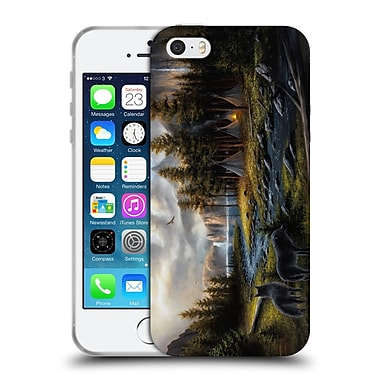 Official Chuck Black Landscape Wild America Soft Gel Case for Apple iPhone 5 / 5s / SE