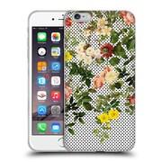 Official Burcu Korkmazyurek Floral 2 Points And Flowers Soft Gel Case for Apple iPhone 6 Plus / 6s Plus