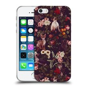Official Burcu Korkmazyurek Animals Cat And Floral Soft Gel Case for Apple iPhone 5 / 5s / SE