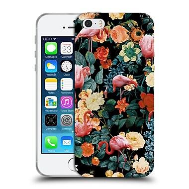 Official Burcu Korkmazyurek Birds and Floral Floral And Flamingo II Soft Gel Case for Apple iPhone 5 / 5s / SE