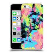 Official Caleb Troy Vivid Blacklight Neon Swirl Soft Gel Case for Apple iPhone 5c