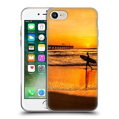 Official Celebrate Life Gallery Beaches Surfer At Sunrise Soft Gel Case for Apple iPhone 7