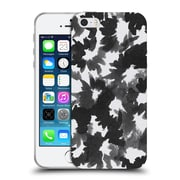 Official Caitlin Workman Black and White Watercolour Floral Soft Gel Case for Apple iPhone 5 / 5s / SE