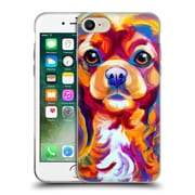 Official Dawgart Dogs King Charles Spaniel Soft Gel Case for Apple iPhone 7