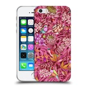 Official Celandine Tropical Pattern Stand Out Calmer Red Soft Gel Case for Apple iPhone 5 / 5s / SE