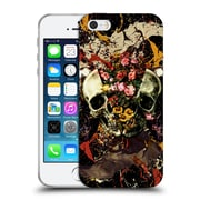 Official Burcu Korkmazyurek Skulls Floral II Soft Gel Case for Apple iPhone 5 / 5s / SE