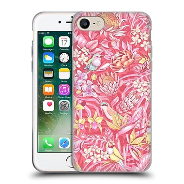 Official Celandine Tropical Pattern Stand Out Pink Pastel Soft Gel Case for Apple iPhone 7