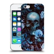 Official Burcu Korkmazyurek Skulls Flowers Soft Gel Case for Apple iPhone 5 / 5s / SE