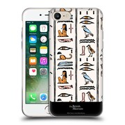 Official British Museum Ancient Egypt Off White Hieroglyphics Soft Gel Case for Apple iPhone 7