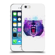 Official Chobopop Animals Lilac Geometric Bear Soft Gel Case for Apple iPhone 5 / 5s / SE