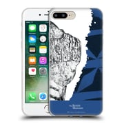 Official British Museum Community and Nurture 2 Black And Blue Print Soft Gel Case for Apple iPhone 7 Plus