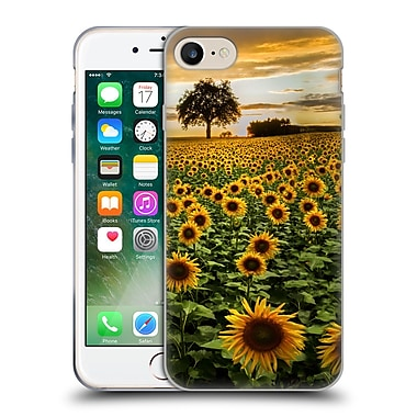Official Celebrate Life Gallery Florals Big Sunflower Field Soft Gel Case for Apple iPhone 7