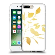 Official Caitlin Workman Organic Spring Leaf Gold Soft Gel Case for Apple iPhone 7 Plus