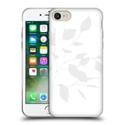 Official Caitlin Workman Organic Spring Leaf Grey White Soft Gel Case for Apple iPhone 7