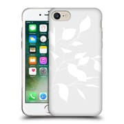 Official Caitlin Workman Organic Spring Leaf Grey Reversed Soft Gel Case for Apple iPhone 7