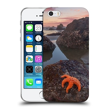 Official DARREN WHITE BEACHES AND OCEANS Battle Rock Sunrise Soft Gel Case for Apple iPhone 5 / 5s / SE